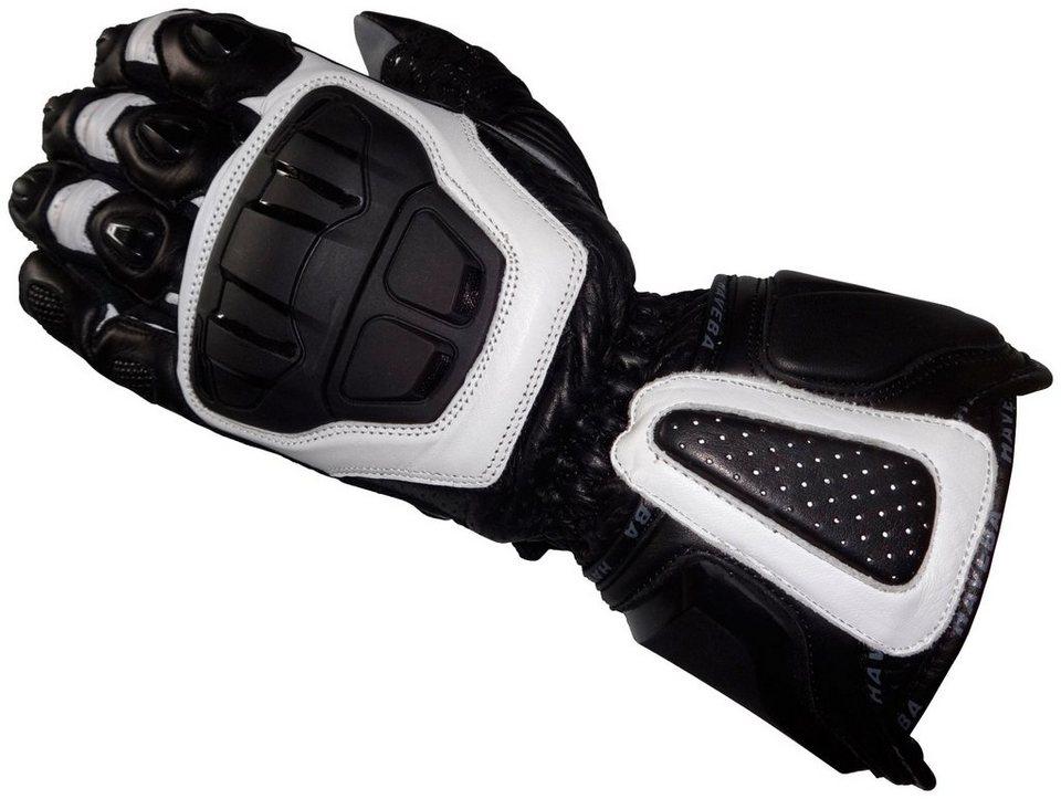 Motorradhandschuhe »Runnix« in schwarz/weiß