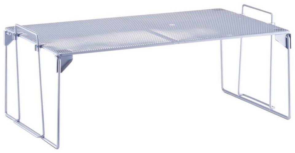 Universalregal »Mesh«, stapelbar, Breite 57 cm in silberfarben