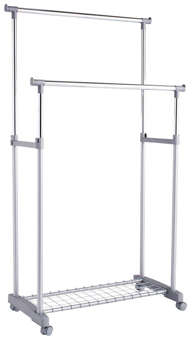 ZELLER Kleiderständer »Rollkleiderständer, 2-tlg., höhenverstellbar«