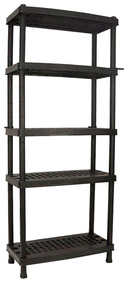 """Steckregal »16"""" mit 5 ventilierten, höhenverstellbaren Böden«, in schwarz"""