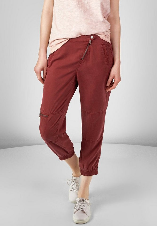CECIL Kurze Cargohose Chelsea in burnt henna red