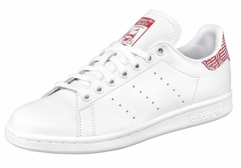 adidas Originals »Stan Smith W« Sneaker in weiß-rot-weiß