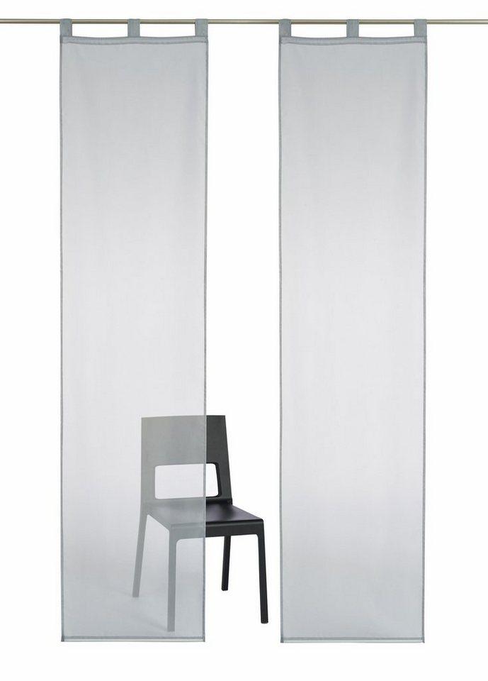 schiebegardine cluny my home schlaufen 2 st ck inkl. Black Bedroom Furniture Sets. Home Design Ideas