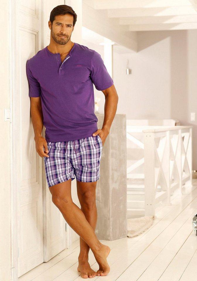 s.Oliver RED LABEL Bodywear Shorty Pyjama kurz in lila