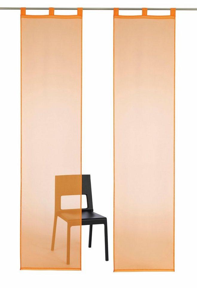 schiebegardine my home cluny mit schlaufen 2 st ck. Black Bedroom Furniture Sets. Home Design Ideas