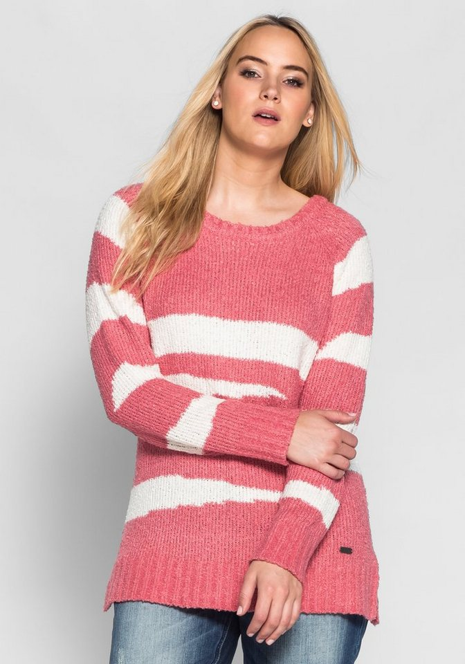 sheego Casual Pullover mit Bindeband in champagner-wüstenrose