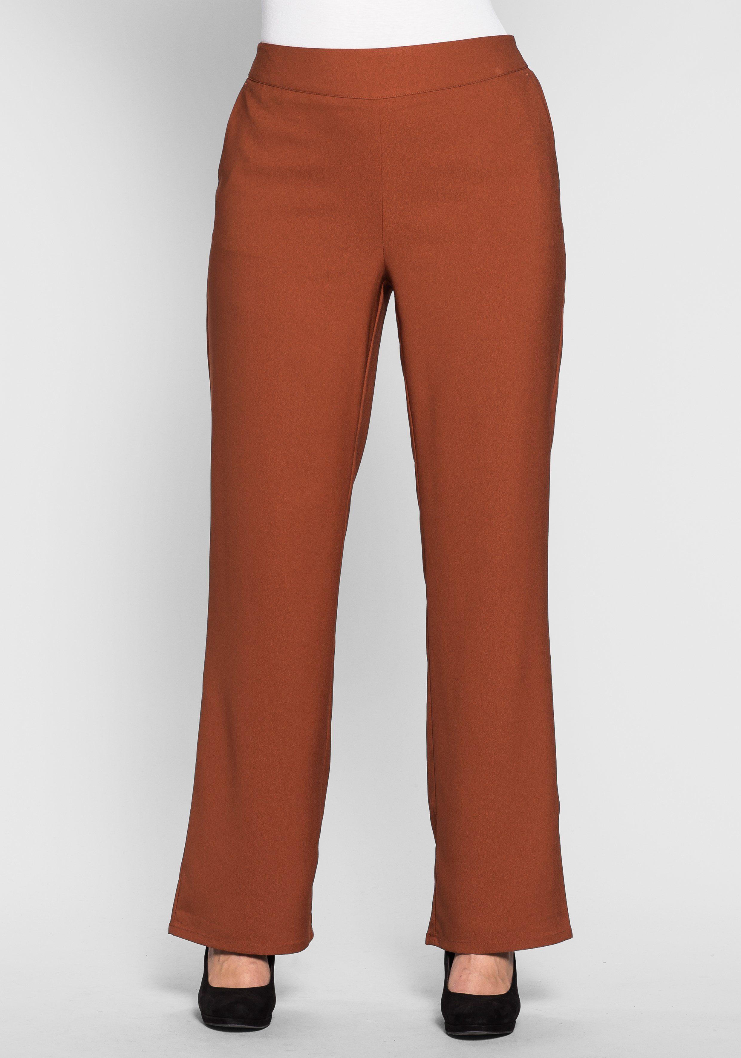 sheego Style Weite Hose mit elastischem Bund