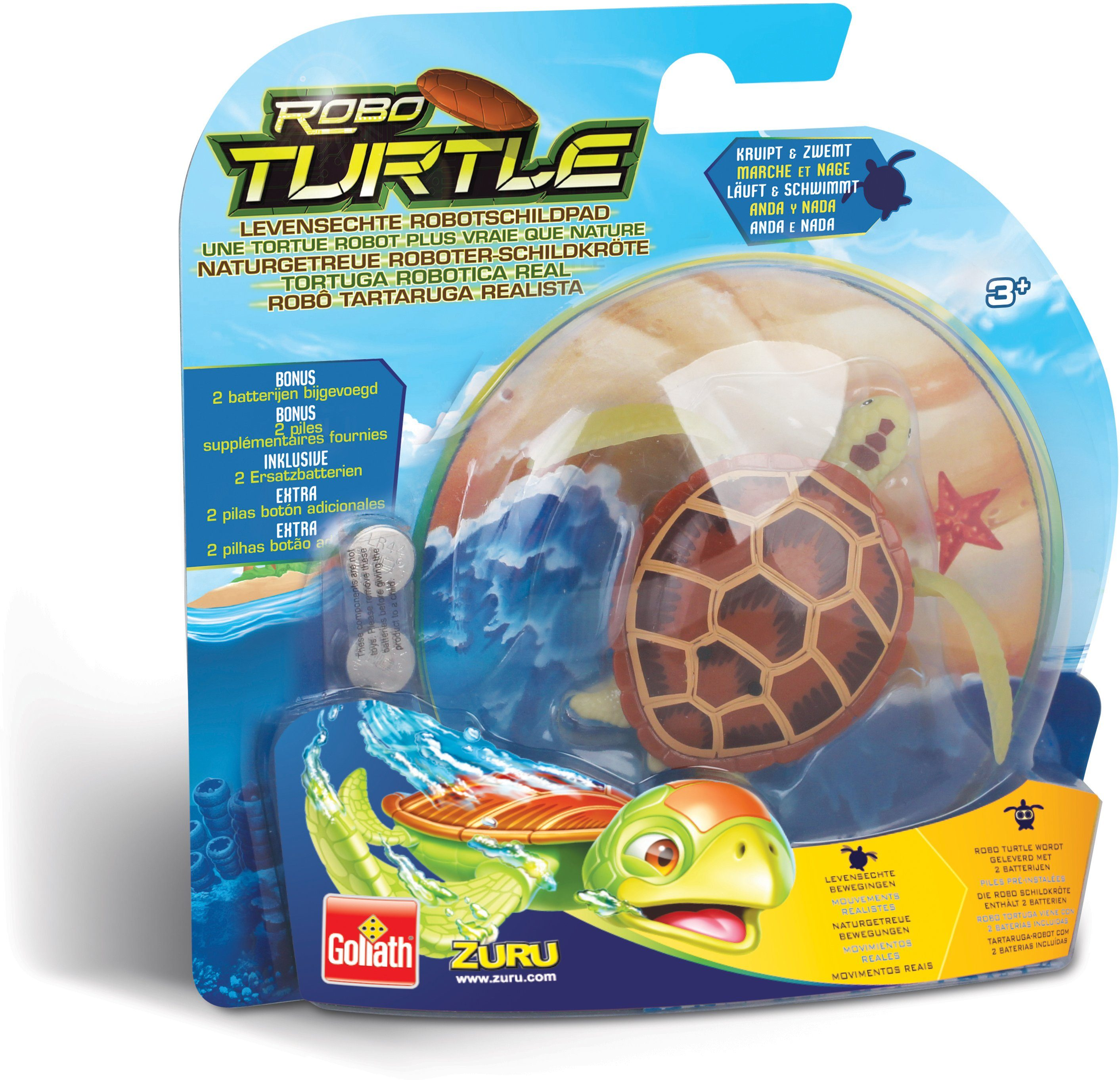Goliath Wasserspielzeug Schildkröte, »Robo Turtle Braun«