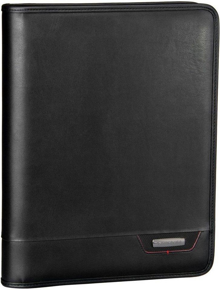 Samsonite Stationery Pro-DLX 4 Zip Folder A4 + Binder in Black