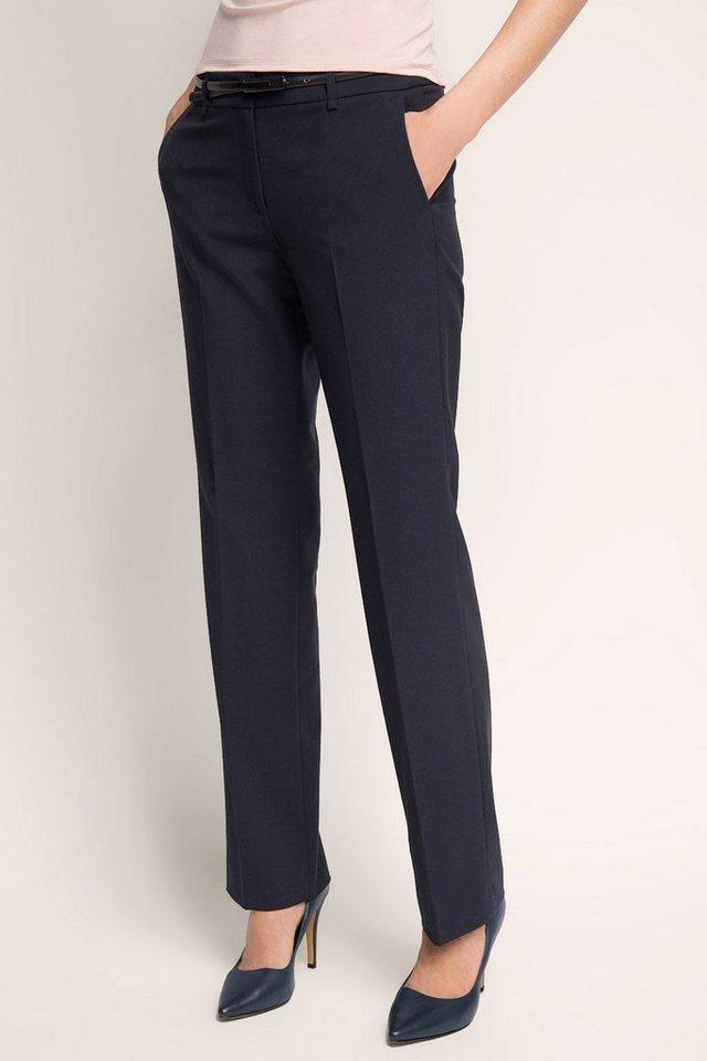 ESPRIT COLLECTION Business-Hose mit Gürtel in DARK BLUE