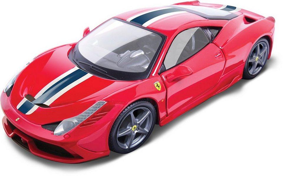Bburago® Modellauto im Maßstab 1:18, »Ferrari 458 Speciale, rot« in rot