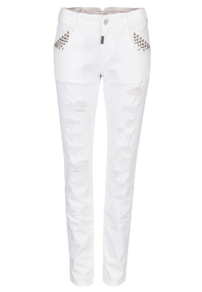 Blue Monkey Skinny-fit-Jeans »Whitney 2« in weiß