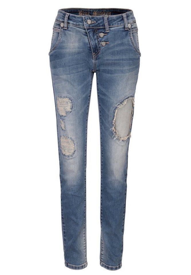 Blue Monkey 5-Pocket-Jeans »Lily 1505« in dunkelblau