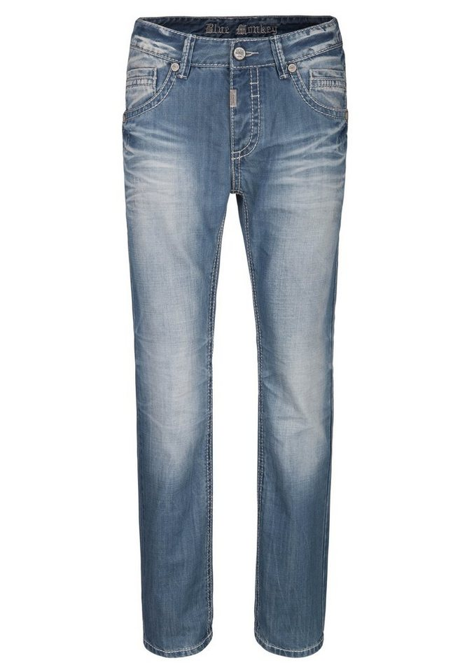 Blue Monkey Slim-fit-Jeans »Freddy 4288« in hellblau