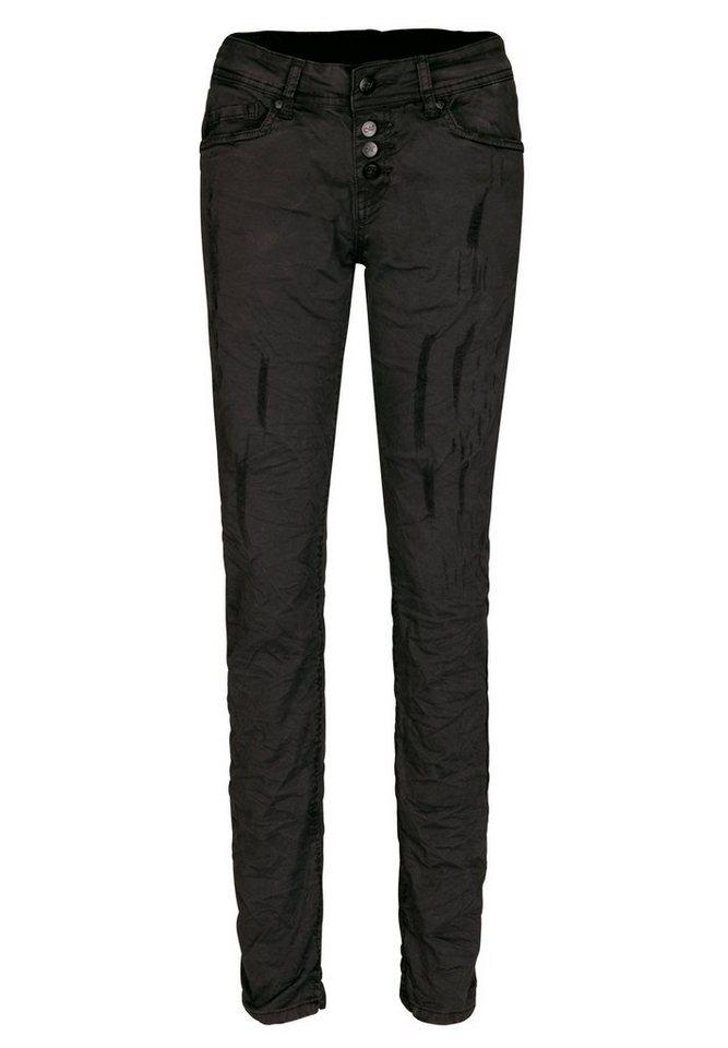 Blue Monkey 5-Pocket-Jeans »Whitney« in schwarz