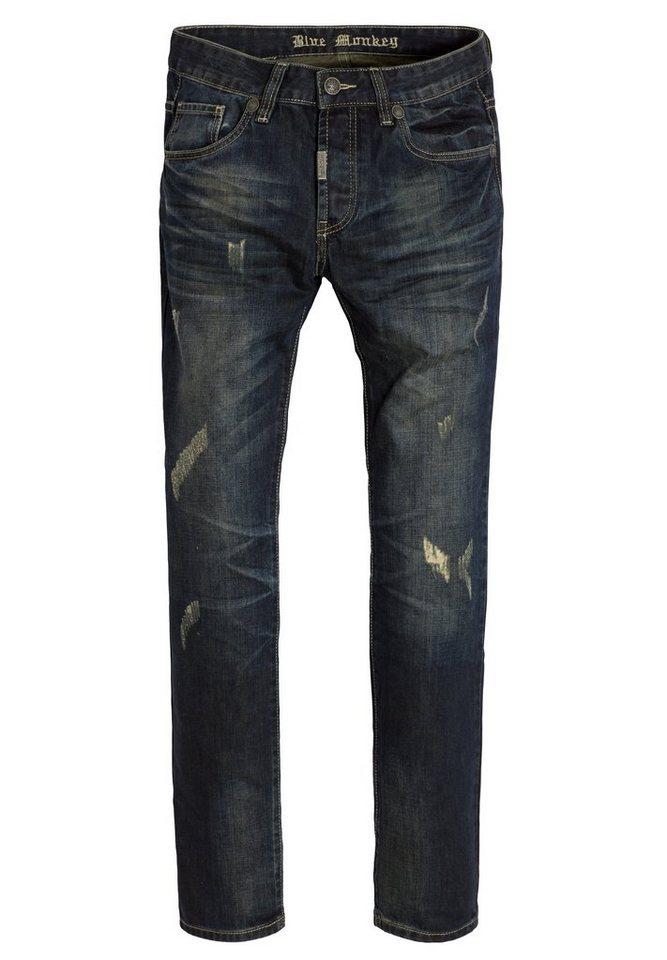 Blue Monkey 5-Pocket-Jeans »Chris 4262« in blau