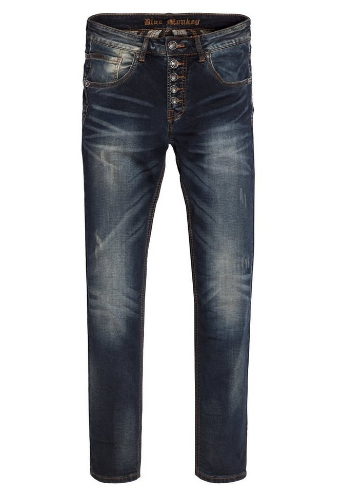 Blue Monkey 5-Pocket-Jeans »Alex 4186« in dunkelblau
