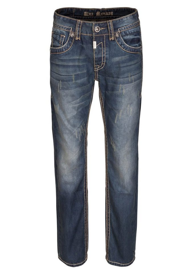 Blue Monkey 5-Pocket-Jeans »Brad 4257« in dunkelblau