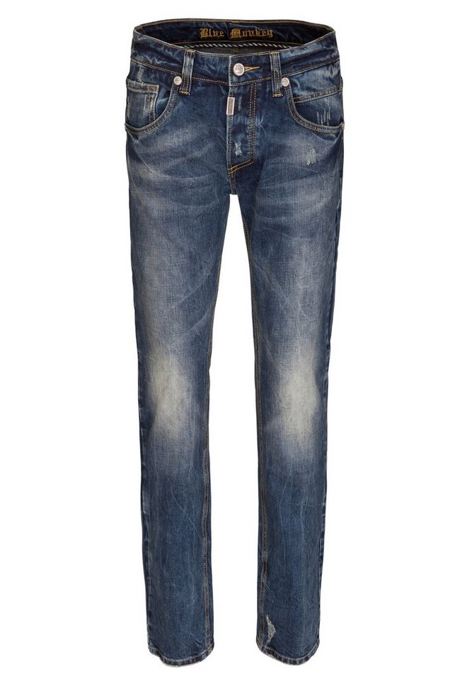 Blue Monkey 5-Pocket-Jeans »Eric 4266« in dunkelblau