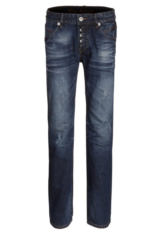 Blue Monkey 5-Pocket-Jeans »Dave 4251« in dunkelblau