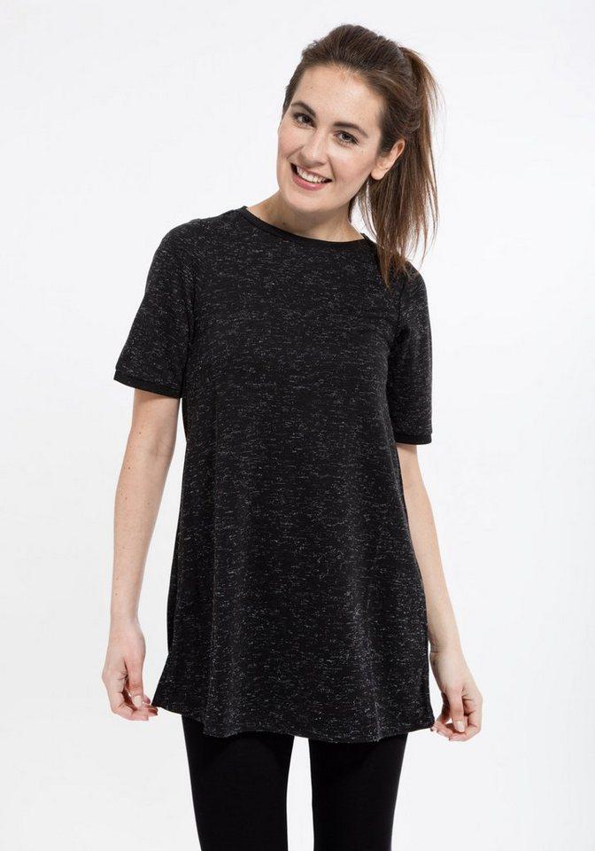 Mexx Longshirt in A-Linien Form in schwarz
