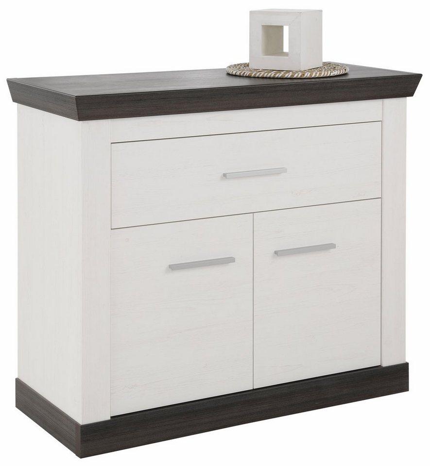 Home affaire Kommode »Siena«, Breite 107 cm in weiß/wengefarben