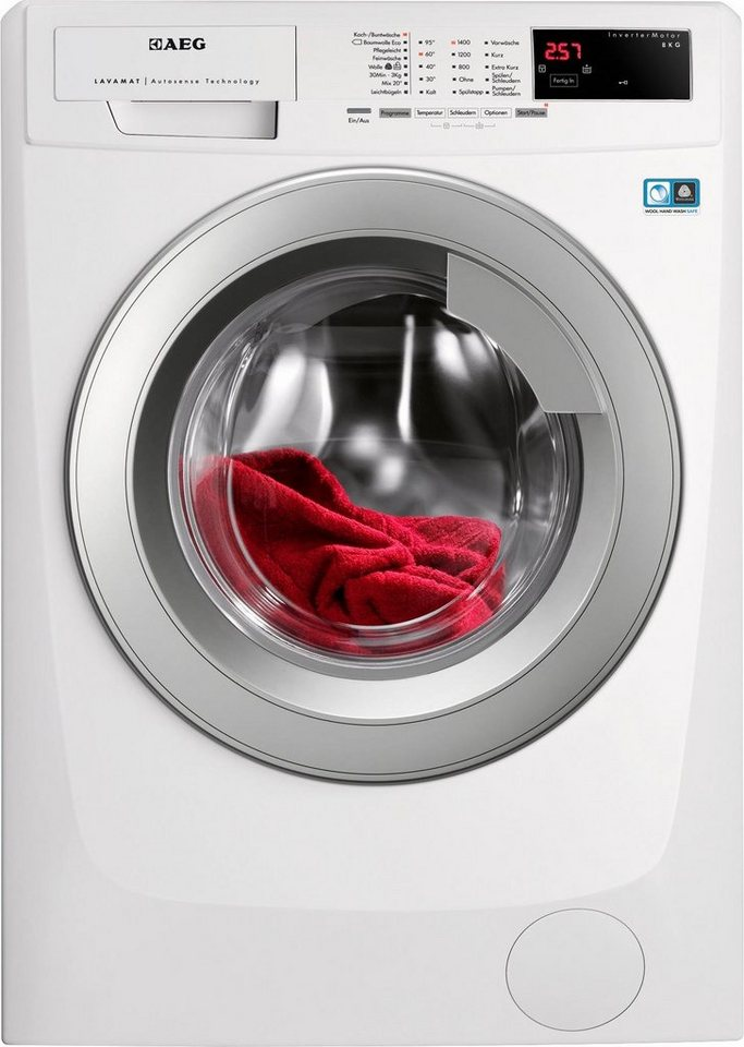AEG Waschmaschine L14AS8, A+++, 8 kg, 1400 U/Min in weiß