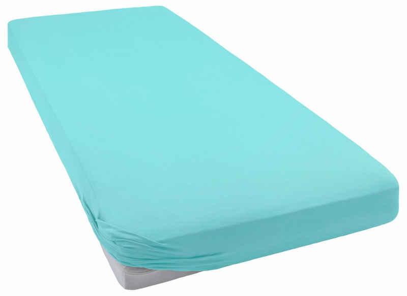 Spannbettlaken »Premium-Stretch«, bellana, aus Mako-Jersey mit Elasthan für hohe Matratzen
