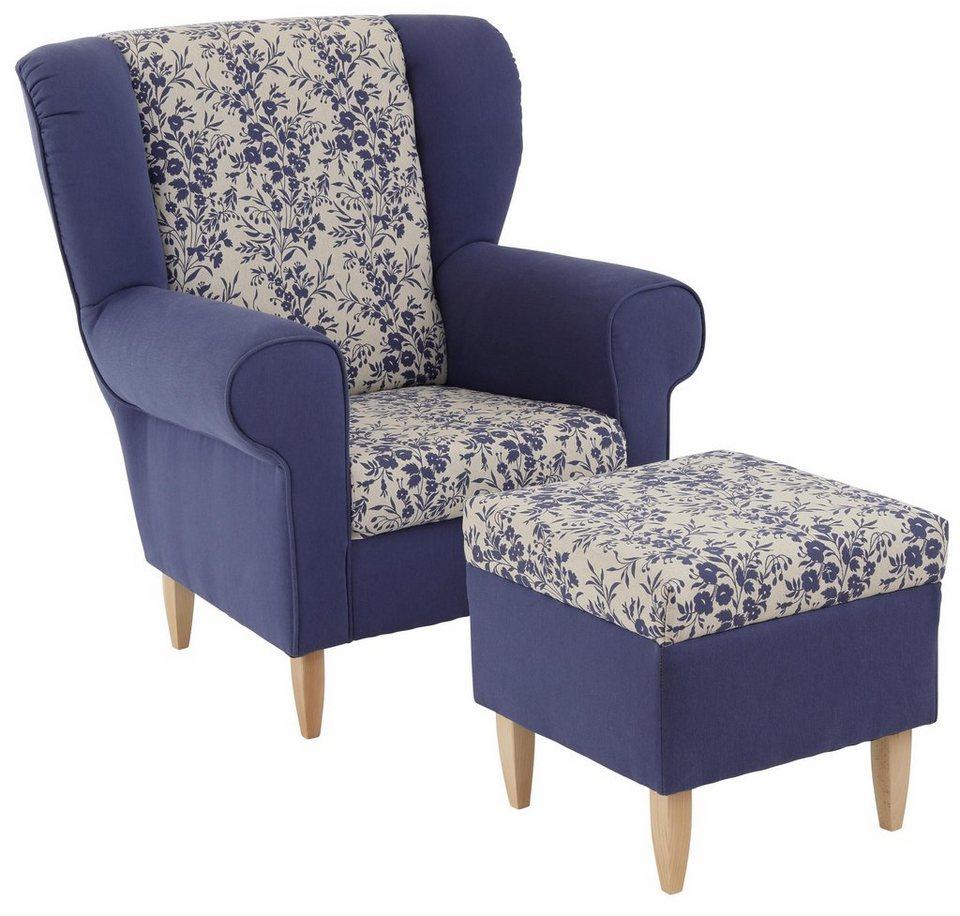 Home affaire Sessel »Asino« in blau-weiß