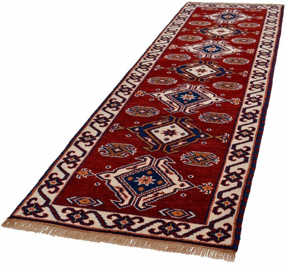 Orient-Läufer,Theko,»Kazak Imperial«,4 kg/m²,75 000 Knoten/m²,handgeknüpft,reine Schurwolle in rot