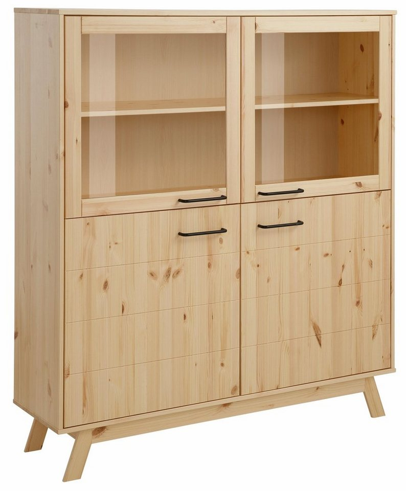 Home affaire Highboard »New Nordic«, Breite 130 cm in natur/lackiert