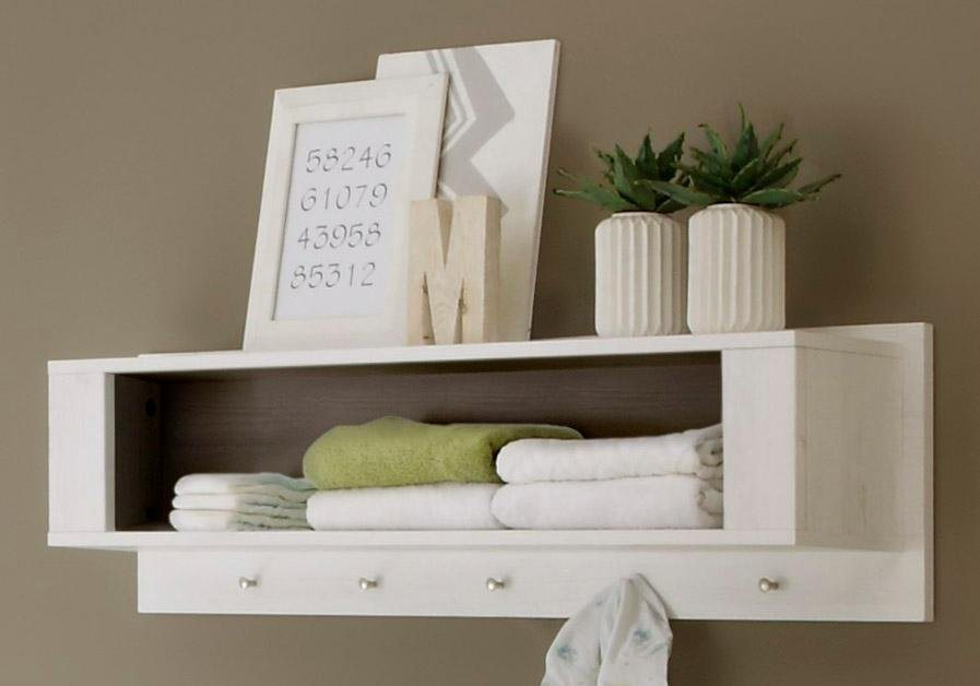 Wandregal passend zur Babymöbel Serie »Landhaus« in pinie NB/weiß in pinie Nachbildung/weiß