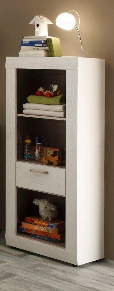 regal schrank passend zur babym bel serie landhaus in pinie nb wei online kaufen otto. Black Bedroom Furniture Sets. Home Design Ideas