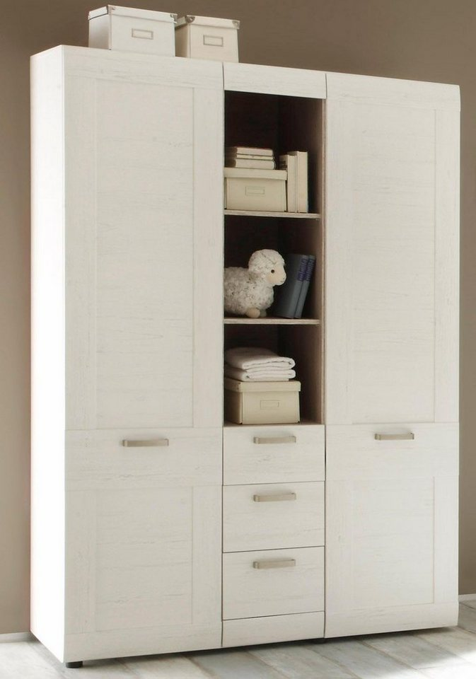 kleiderschrank passend zur babym bel serie landhaus in pinie nb wei online kaufen otto. Black Bedroom Furniture Sets. Home Design Ideas