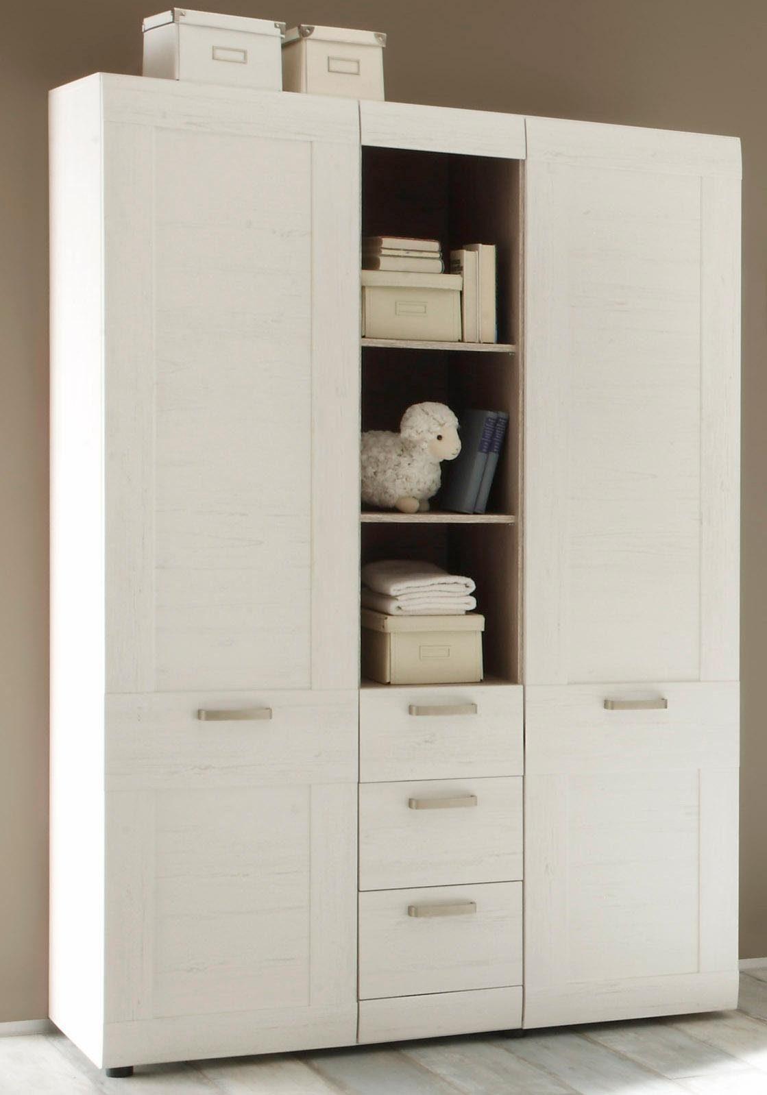 Kleiderschrank passend zur Babymöbel Serie »Landhaus« in pinie NB/weiß