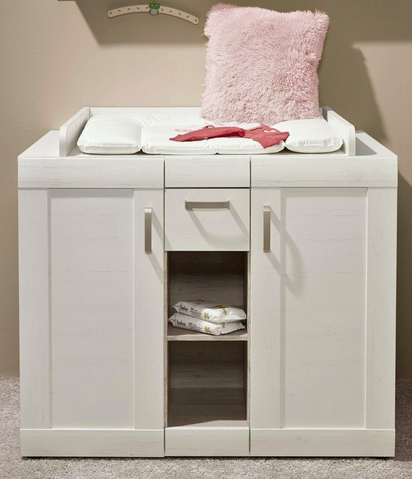Wickelkommode passend zur Babymöbel Serie »Landhaus« in pinie NB/weiß in pinie Nachbildung/weiß
