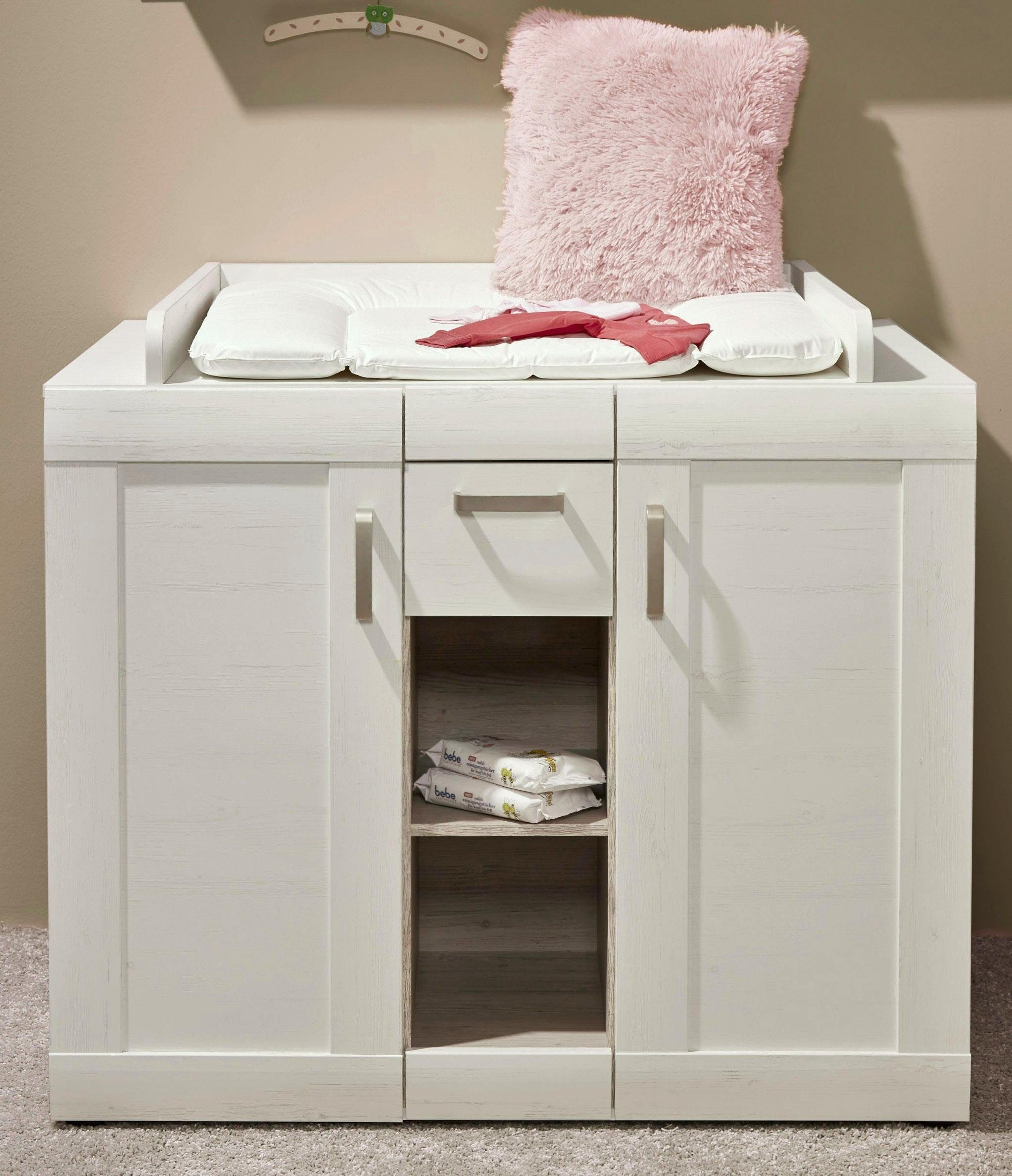 Wickelkommode passend zur Babymöbel Serie »Landhaus« in pinie NB/weiß