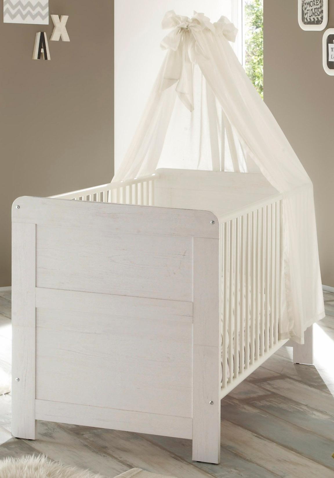 Babybett passend zur Babymöbel Serie »Landhaus« in pinie NB/weiß   Kinderzimmer > Babymöbel > Babybetten & Babywiegen   Pinie - Weiß   Pinie - Nachbildung