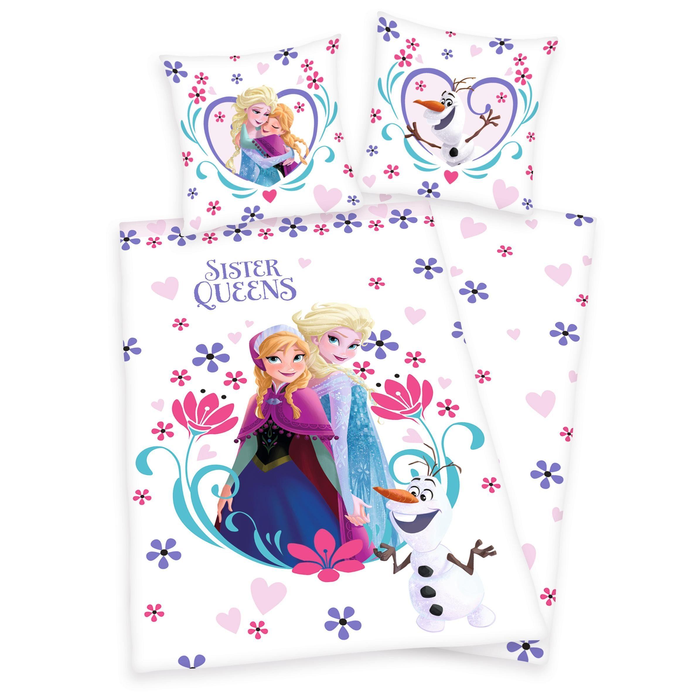 Bettwäsche, Disney, »Die Eiskönigin Blumenqueen«, aus Bio-Baumwolle