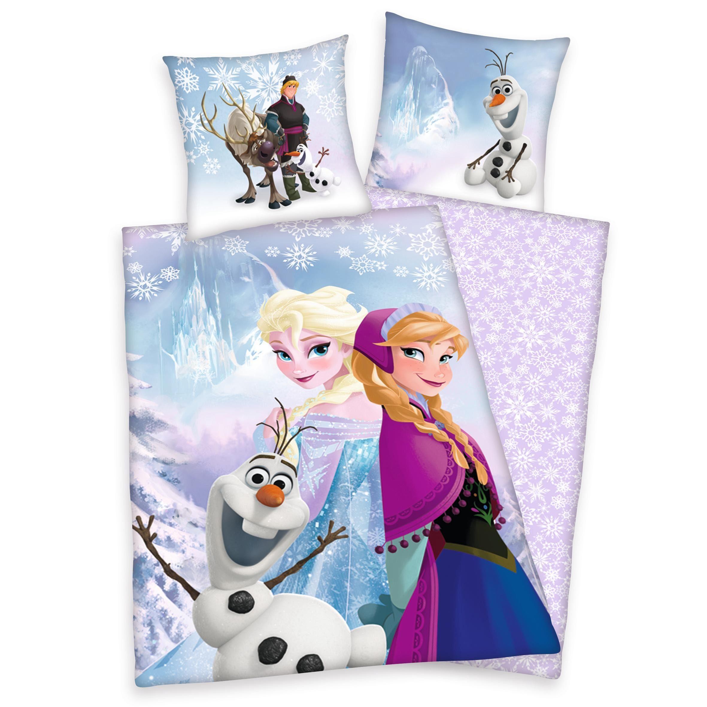 Bettwäsche, Disney, »Die Eiskönigin Winterwelt«, aus Bio-Baumwolle