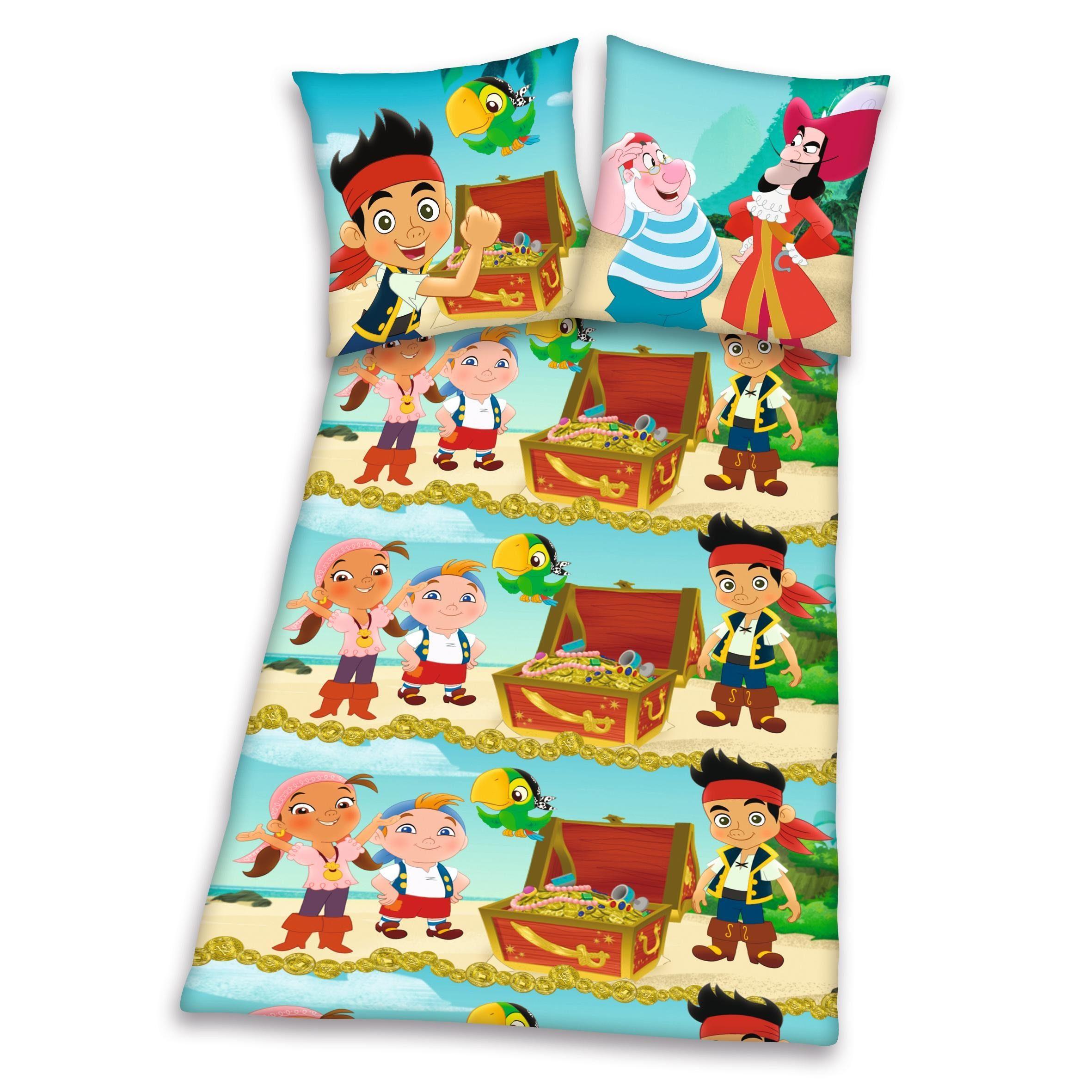 Bettwäsche, Jake und die Nimmerlandpiraten, »Schatztruhe«, mit coolen Piraten