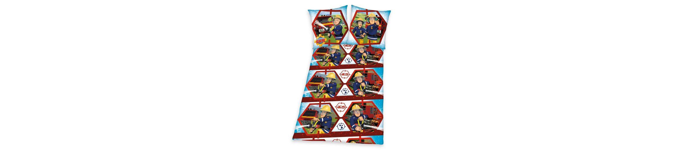 Bettwäsche, Feuerwehrmann Sam, »Feuerwehrschlauch«, mit Feuerwehr-Motiv