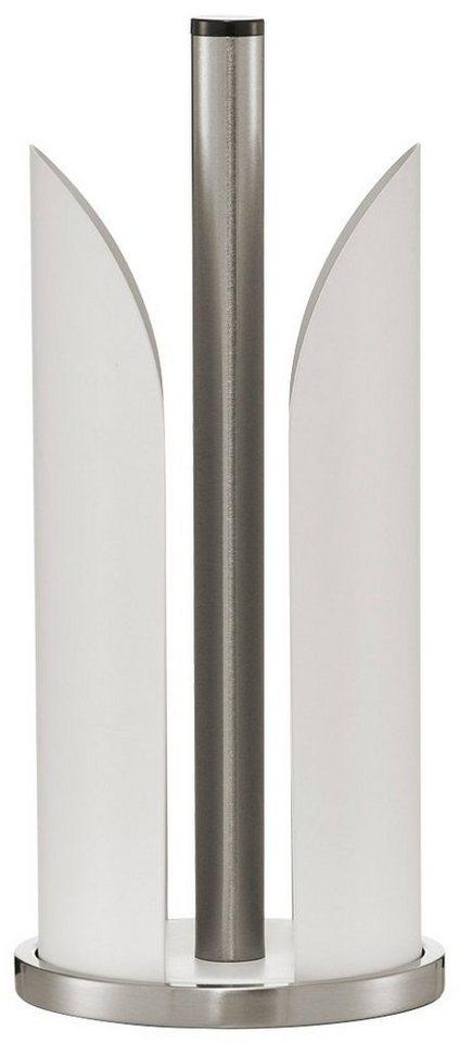 Küchenrollenhalter, Edelstahl/Metall, in 3 Farben in weiß