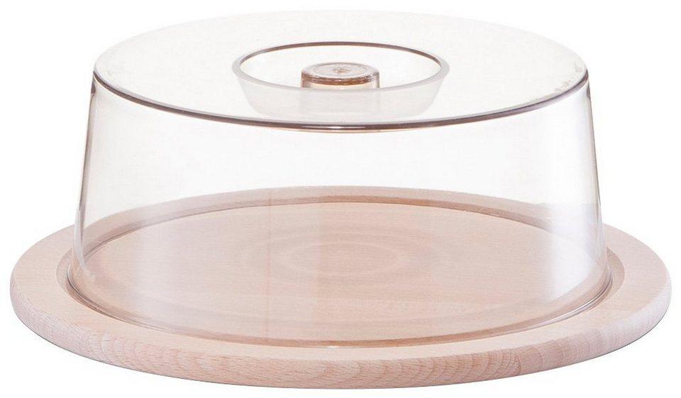 Käseglocke, rund, Ø23x8 cm in braun