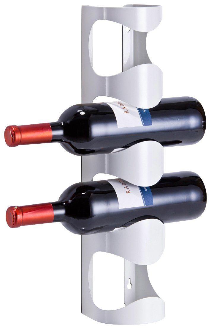 Zeller Wand-Flaschenregal für 4 Flaschen