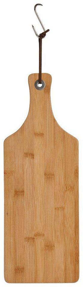 Schneide-/Servierbrett »Bamboo« mit Griff, schmal, Breite 44,5 cm in braun