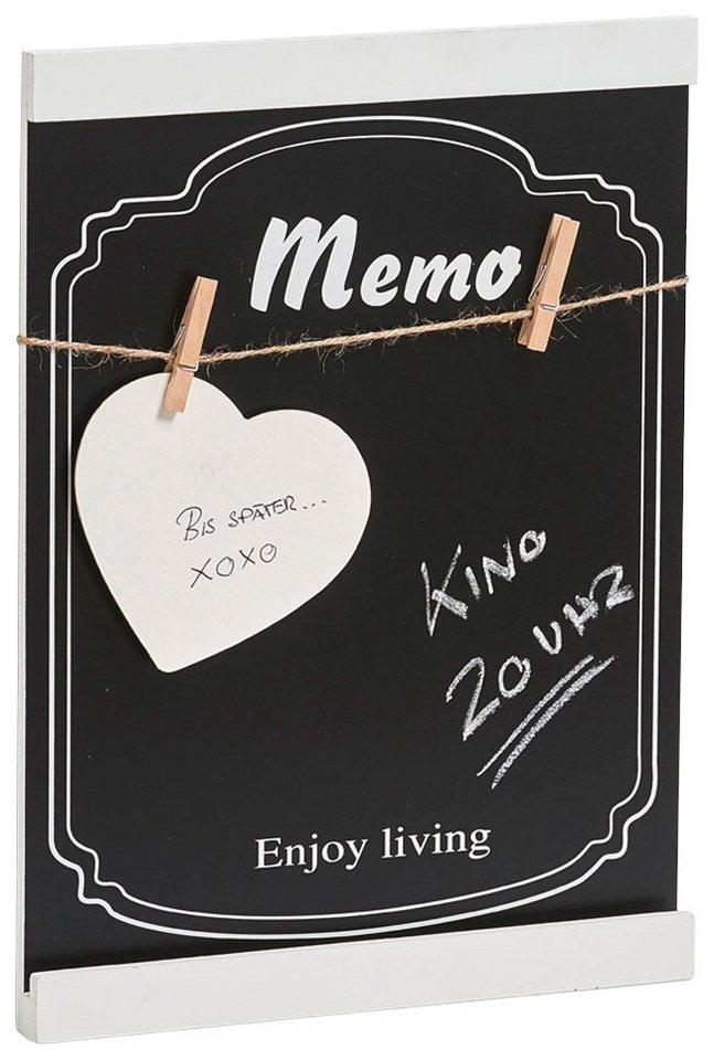 Memo-Tafel, 35x25,5x2,4 cm in schwarz