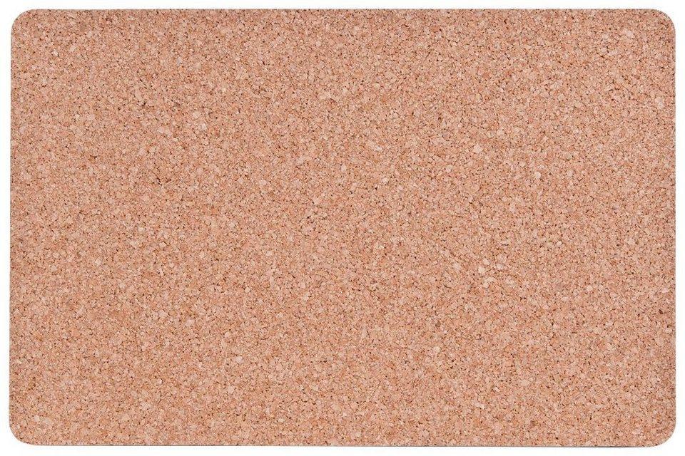 Kork-Platzmatten-Set, 4-tlg. 44x29 cm in braun