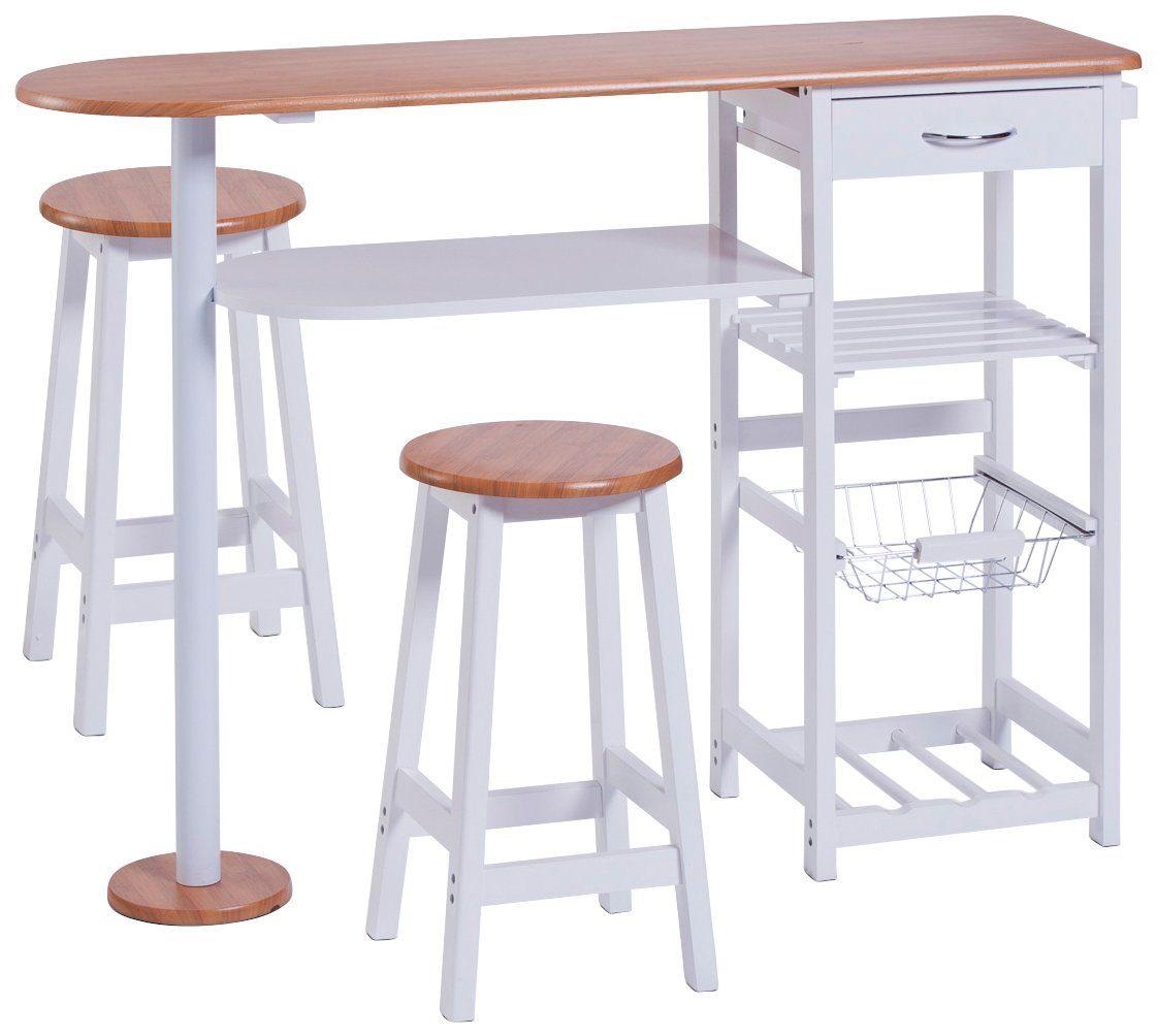Küchenbar »Bamboo« mit Tisch und 2 Hocker