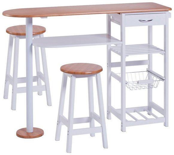 k chenbar bamboo mit tisch und 2 hocker kaufen otto. Black Bedroom Furniture Sets. Home Design Ideas